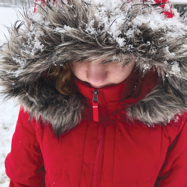 Heather Mucha, 13, bundles up to brave the snow at Columbus Air Force Base. She is an eighth grader at Caledonia Middle School. / Photo by: Courtesy photo