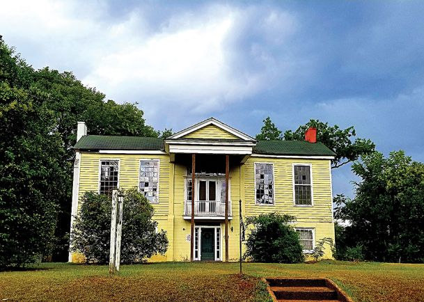 Shown is the Lea home in Marion, Alabama, where on May 9, 1840, Sam Houston married Margaret Lea. Houston had met her the year before at a garden party in Mobile about a week before he traveled to Columbus.