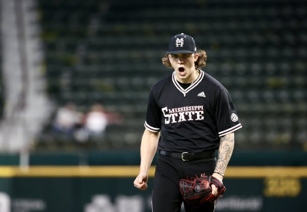 Mississippi State freshman pitcher Jackson Fristoe earned the first start of his career as the Bulldogs had five of their