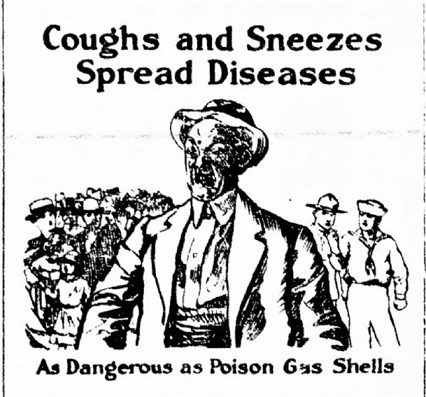 As World War I raged and the Influenza spread, the U.S. Public Health Service published this drawing which ran in the Oct. 18, 1918, Starkville News.