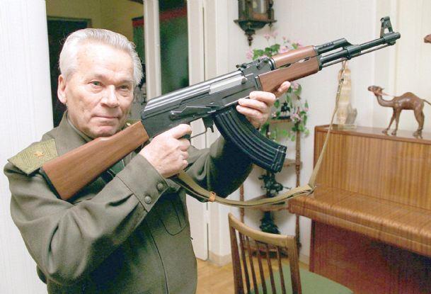 Mikhail Kalashnikov with ak-47