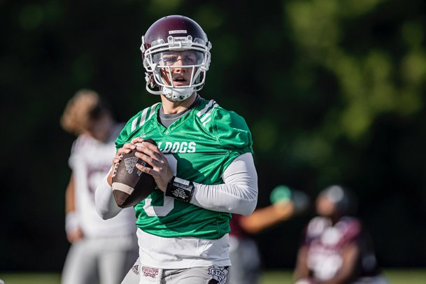 Ten days shy of MSU's season opener, quarterback K.J. Costello said Leach has yet to officially anoint him the starter, though he's received the lion's share of first team reps in recent days.