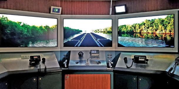 The permanent exhibits at the Tennessee-Tombigbee Waterway Museum are well worth seeing. The mock up of the pilot house of a modern Tombigbee River towboat traveling down the river is one of the more popular exhibits among both young and old.