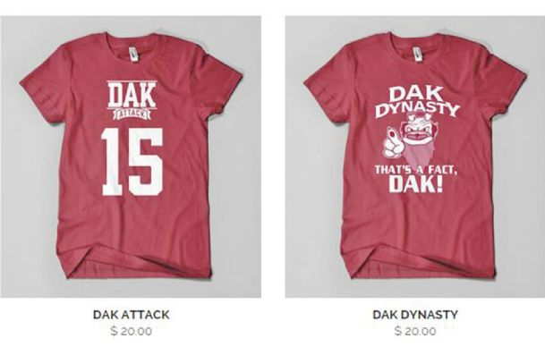 MSU quarterback Dak Prescott has filed a lawsuit against a Gulfport T-shirt maker.