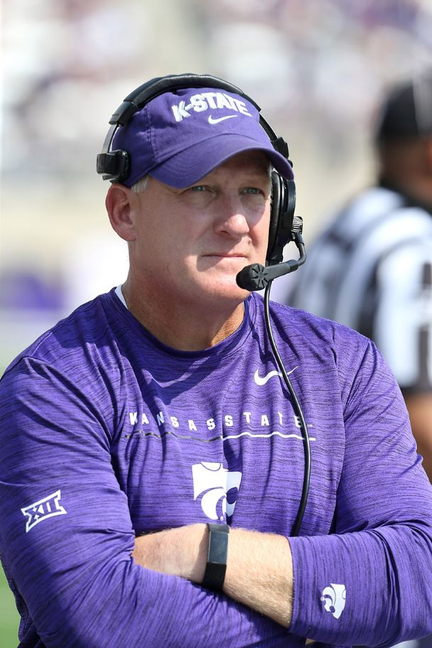 Kansas State Wildcats head coach Chris Klieman looks on during a game against the Bowling Green Falcons Saturday at Bill Snyder Family Stadium.