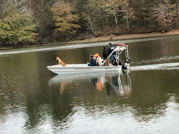 Zor, a Belgian Malinois with GTR K9 Search Team, assists law enforcement in solving a cold case in Alabama in December 2018. Zor is one of several search dogs trained by the Columbus-based nonprofit.