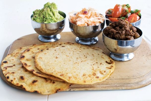 Tortillas with tomato-mint salsa and guacamole are shown in Concord, N.H. in this image taken on March 4.