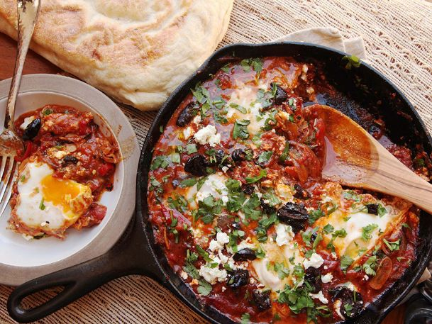 One of Anne Freeze's recommendations this week is an Israeli dish called shakshouka, eggs poached in a spicy tomato sauce and served on toast. Anne also offers suggestions for Night Two of her chicken Milanese and barbecued shrimp recipes from recent columns.