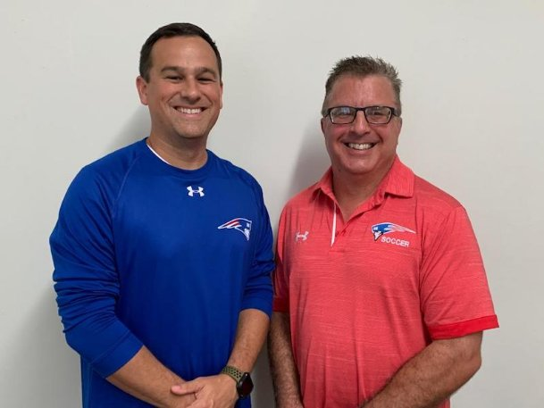 Heritage Academy has hired a pair of Columbus United coaches to lead its boys soccer team. Tom Velek, right, will serve as head coach, and Dave Albertson will be his assistant. Velek has already coached the Patriots' girls for the past four seasons.