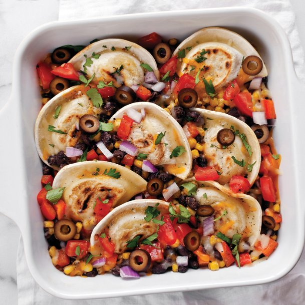 Add variety to the weeknight table with pierogies, or stuffed dumplings, in dishes like this taco casserole.
