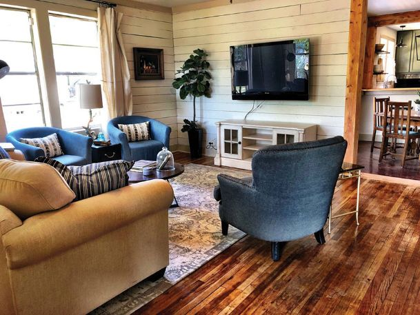 Heather Osborne rents out an entire 1,650-square-foot house in central Starkville via Airbnb, the family room of which is shown in this image from the Airbnb website. Under a new proposed city code, Osborne and other owners of short-term rental properties would have to live in the homes and pay an annual $300 license fee in order to rent them out.
