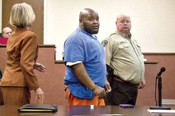 Jerry Talley, center, is escorted out of an Oktibbeha County circuit courtroom after pleading guilty to kidnapping and sexual battery on Monday. Talley is the second suspect to be convicted in a 2016 Cotton District rape case.