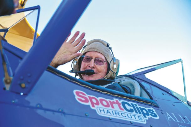 Joseph Johnson prepares for take-off during an Ageless Aviation Dream Flight at Golden Triangle Regional Airport Saturday.