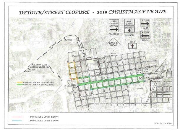 Christmas Parade Street Closures