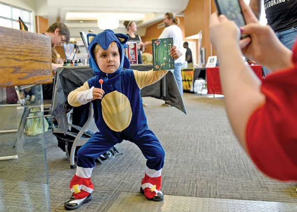 Trenton Edwards, 3, shows off his Sonic the Hedgehog moves during the 2017 Golden Triangle Comic Con at Trotter Convention Center in this Dispatch file photo. The 2019 Golden Triangle Comic Con will take place at East Mississippi Community College's Communiversity Sept. 14-15.