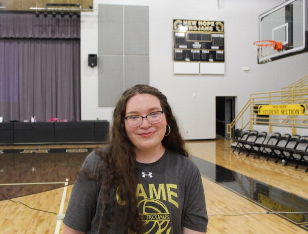 New Hope senior Emma Alexander joined the volleyball team as a manager junior year when her close friend Micaela Hudgins encouraged her to ask about the position. Since then, Alexander has formed a close bond with the Trojans.