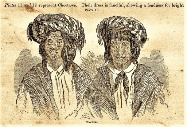 Portraits of Choctaws published in 1856.
