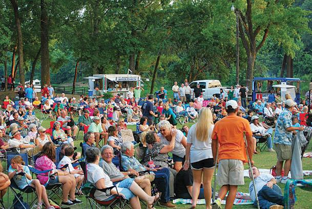Community crowds, as seen in this Dispatch file photo of a previous Sounds of Summer concert, will not be gathering at the Columbus Riverwalk this summer for concerts.