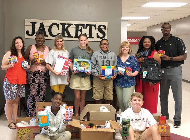 A group of volunteers from the Salvation Army donated clothes, personal hygiene products and school supplies to the Starkville-Oktibbeha Consolidated School District's Clothes Closets at the beginning of the school year. The program started at individual schools and consolidated with the help of community service groups and churches, organizer Marchelle Brain said.