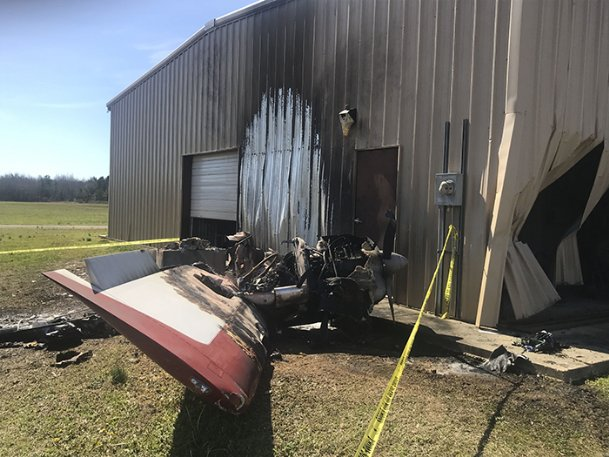 A plane rolled away from its pilot Saturday morning and crashed into a hangar at Columbus-Lowndes Airport. The pilot was priming the engine at the propeller of the single engine aircraft when it started unexpectedly. The pilot was not seriously injured and reports indicate the plane never left the ground.