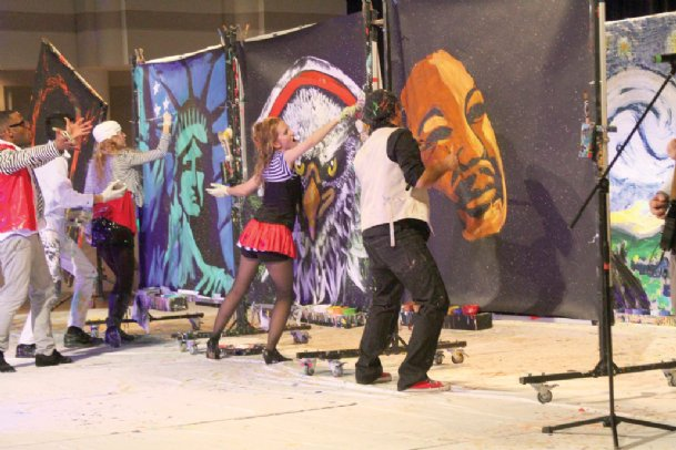 Artrageous will combine music, dance and art in a performance Tuesday in Lee Hall on the Mississippi State campus.