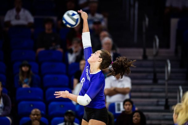 Outside and right-side hitter Lauren Myrick is joining Mississippi State for her sophomore season this fall. The Lipscomb transfer is the Bulldogs' ninth incoming player and fourth transfer of the class.