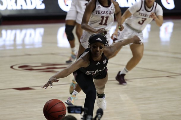 Mississippi State sophomore forward Rickea Jackson missed her first seven shots in Sunday's 69-41 loss at Texas A&M in College Station.