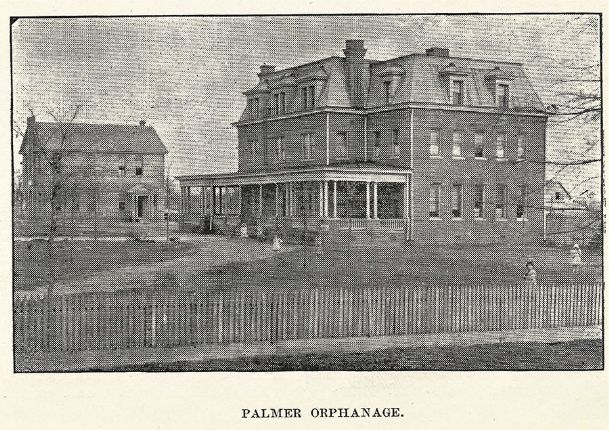 Palmer Home as it appeared in 1903. The brick building designed by noted architect Andrew Bryan was constructed in 1898 at a cost of $5,000.