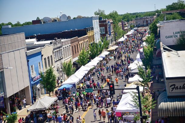 The 2017 Market Street Festival is pictured in this Dispatch file photo of Fifth Street in Columbus. This year's festival will kick off with a free concert at 7 p.m. Friday at the Columbus Riverwalk. On Saturday, a 5K run will start at 8 a.m., and from 9 a.m.-5 p.m. arts and crafts vendors, food booths, live music, games and more will fill downtown.