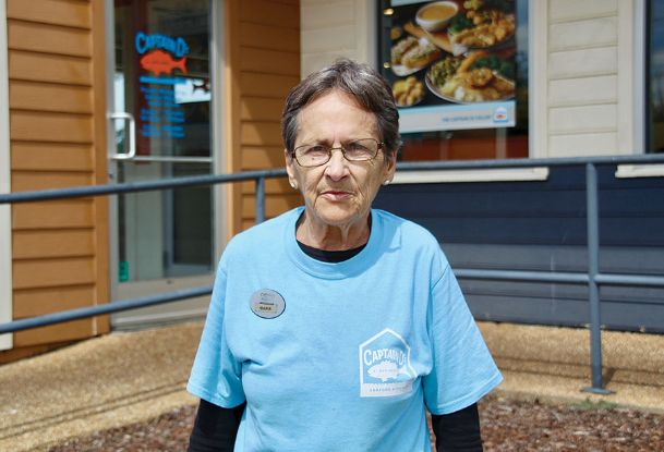 Maria Sanders, 77, has worked at Captain D's, off Highway 45, for nearly 30 years. A native of New York, New York, Sanders came to Columbus to be with her then-husband around the late 1960s after serving as an Army cook at Fort Bend in Georgia.