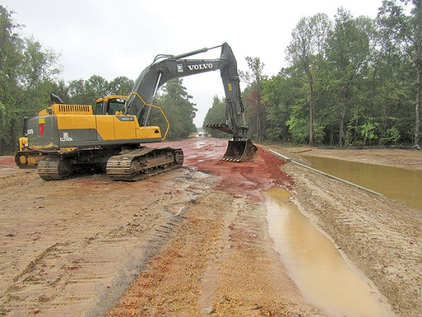 Dirt work on a bridge replacement project just north of Cherokee Road near Caledonia has started. County engineer Bob Calvert said the project should be completed by the end of the year. Wolfe Road has been closed between Cherokee Road and McCullough Road since mid-July.