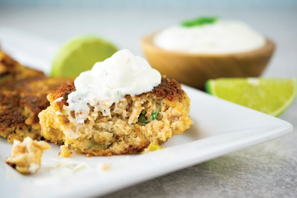 The recipe below for Southwest salmon patties makes enough for four.
