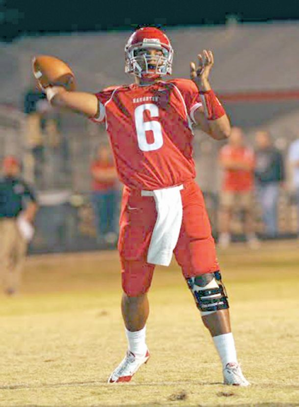 Dak Prescott, the starting quarterback for the Mississippi State football team, played high school ball at Haughton (La.) High School. He led that team to its first undefeated regular season record.
