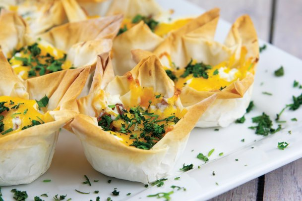 Use frozen phyllo dough sheets to make these jalapeno popper cups that deliver zesty flavor.