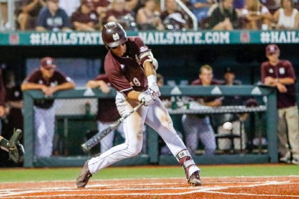 Brent Rooker finished his career at Mississippi State by leading the SEC in RBIs, home runs and batting average.