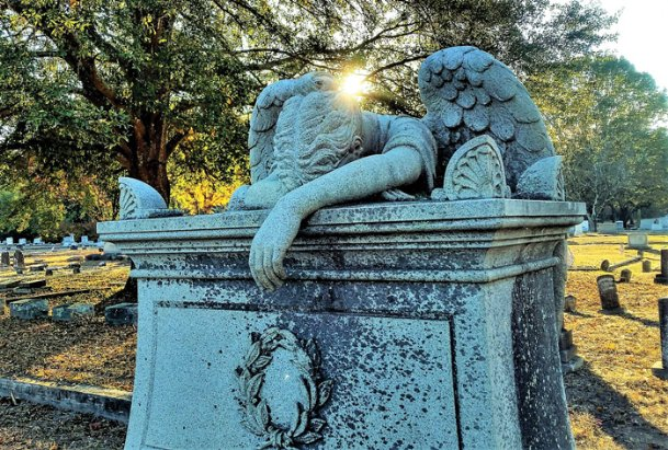 One of the most iconic images of Columbus is Friendship Cemetery's weeping angel over the grave of the Rev. Thomas C. Teasdale. It was said that he was such a good man, even the Angels in heaven cried when he died.