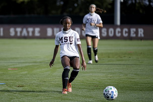 Freshman Olivia Simpson is poised to make an early impact for Mississippi State soccer this fall. Simpson enrolled a semester early and impressed head coach James Armstrong with her play during the spring season.