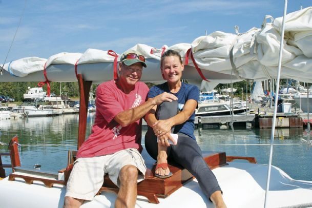 "Dave and Beth Rogers of Minnesota are among at least 55 ""loopers� to visit Columbus during their journey along the Great Loop."