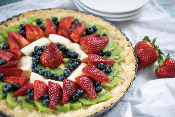 Family meals increase consumption of fruits and vegetables. Try this German fruit tart on the family table.