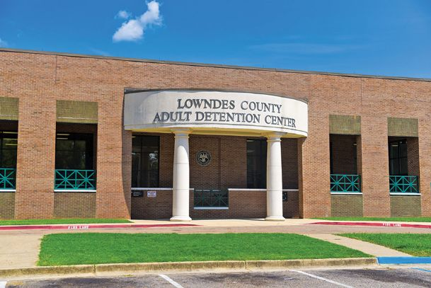 An inmate died in an apparent suicide in his cell at the Lowndes County Adult Detention Center, pictured in this Dispatch file photo, Monday morning.