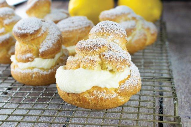 Like lemony treats? Try these lemon cream puffs.