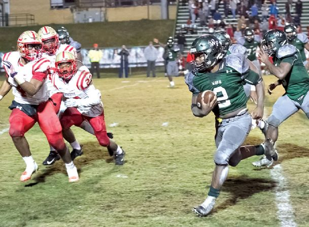 Running back Brandon Harris played a pivotal role in the second half to help the West Point High School rally past Lafayette County on Friday night.
