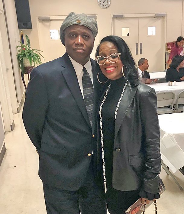Roger B. Brown is pictured with his sister Alicia Brown Young. Roger B., a Columbus native, became the first ever full-time black sports writer at the Fort Worth Star-Telegram in 1987.