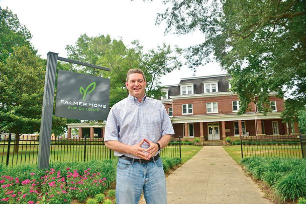 Palmer Home for Children CEO Drake Bassett stands in front of the Columbus residential foster care facility in this 2015 Dispatch file photo. The organization has announced it is moving the children housed there to its Hernando campus. Administrative offices will remain in Columbus.
