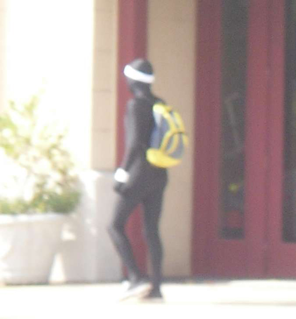 A man in a strange costume was seen walking the streets of Columbus on Thursday.