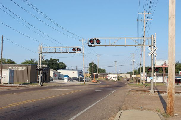 Main Street will be closed to through traffic on Tuesday and part of Wednesday at the railroad crossing near the Salvation Army Thrift Store in Columbus.