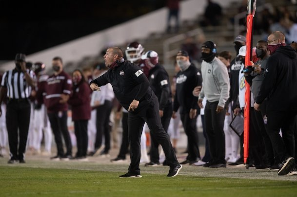 Mississippi State defensive coordinator Zach Arnett helped the Bulldogs to the No. 5-ranked defense in the Southeastern Conference in  2020.