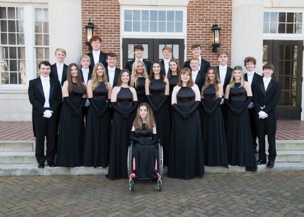Members of the 2020 Junior Auxiliary of Columbus Charity Ball Court to be presented March 28 at Trotter Convention Center are, in front, Elizabeth Alexander Howard. Second row: Carson Sims Nichols and Katherine Alden Wiygul. Third row: Arthur Cale Upton, Rayne Allen Phillips, Mary Hannah Brady, Abby Michelle Amos, Sophia Kent Rector, Catherine Bailey Harris and Jackson Pritchard Kizer. Fourth row: William Henry Greene, Jonathon Mark Swartz, Carter Davis Putt, Emma Madison Holliman, Sara Grace Vought, Ellis Blaine Clark, Robert Gunnar Gale and Adam Reese Ford. Fifth row: Carter Reid Smith, Michael Banks Hyde, Noel Blaine Fisher and James Reuben Profitt.