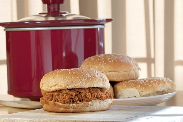 Autumn chills bring on thoughts of slow cooker meals ready to eat at the end of the day, like these barbecue chicken sliders.
