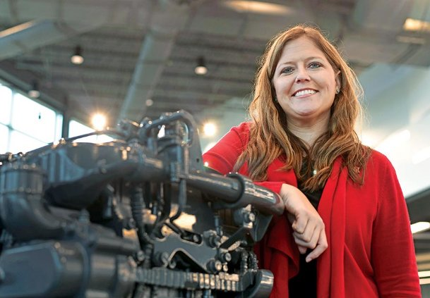 East Mississippi Community College Communiversity Director Courtney Taylor stands for a portrait Tuesday at the Communiversity. Taylor started Nov. 11 as head of the $42 million advanced manufacturing training facility on Highway 82 in Lowndes County.
